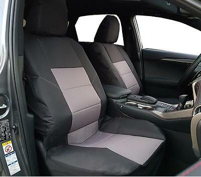 New Arrival Waterproof Canvas Car Seat Covers Black Auto Interior