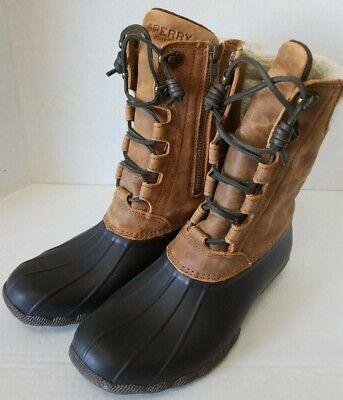 Saltwater Sela Brown/plaid Boot 6 Women