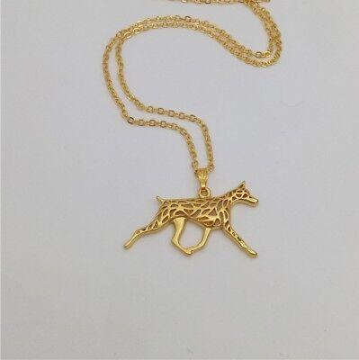Great Dane Pendant Necklace Gold Tone ANIMAL RESCUE DONATION