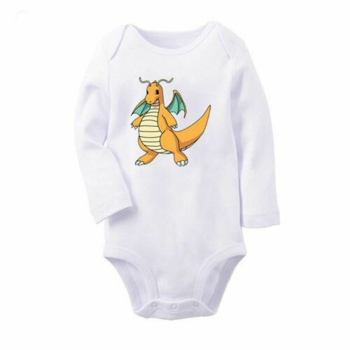 Pokemon sprites Dragonite Designs Newborn Baby Romper Bodysuit Jumpsuit Clothes