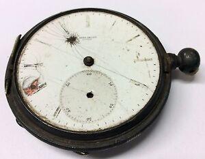 LOUIS-JACOT-LOCLE-Victorian-POCKET-WATCH-9876-Key-Wind-Set-PARTS-REPAIR-Antique