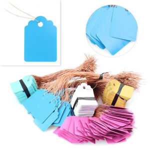 100Pcs-Jewelry-Garment-Merchandise-Brand-Label-Price-Pricing-Tags-Tie-Strung