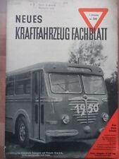 KFT NEUES KRAFTFAHRZEUG FACHBLATT 24/1949 VERITAS Meteor COOPER F 3 Crosley DDR