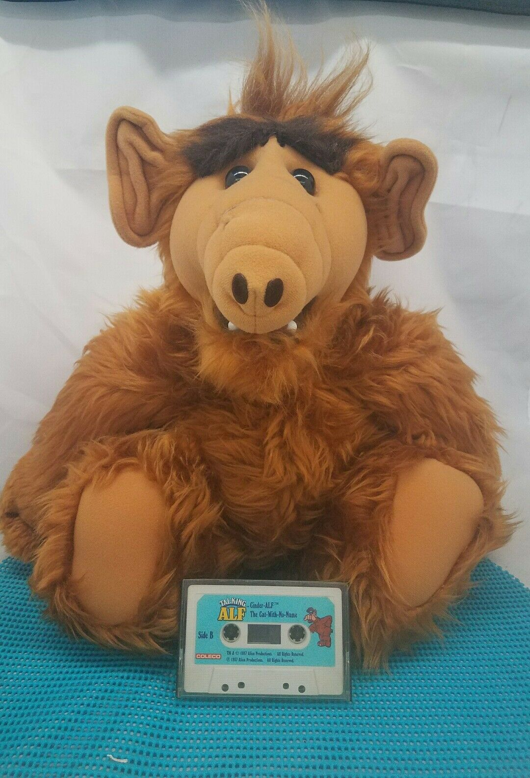 ALF TALKING Doll Plush Toy 21  ET EXTRA-TERRESTRIAL 1987 NOT WORKING