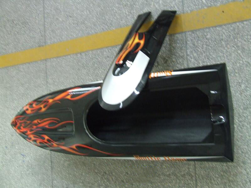 DT RC Gasoline Boat Hull G30D Colorosso KIT Only for Advanced Player Racing