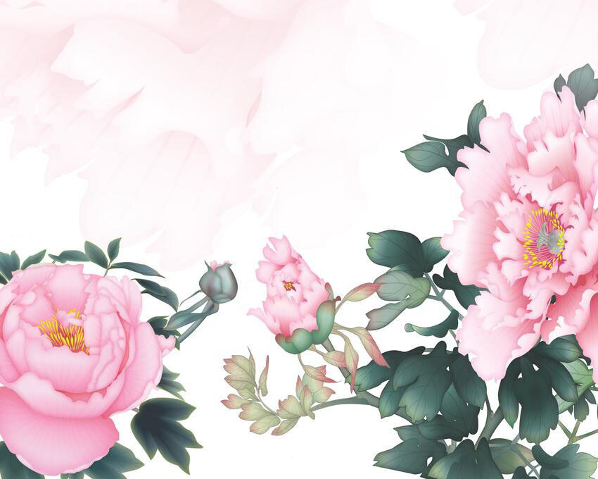 3D Showy Peony Flowers 2752 Paper Wall Print Wall Decal Wall Deco Indoor Murals