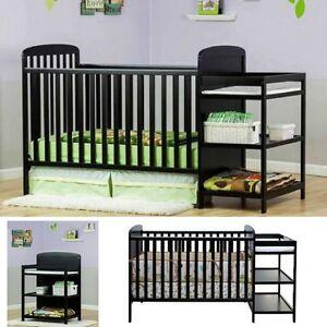 baby crib changing table set full size nursery furniture bassinet bedding combo ebay. Black Bedroom Furniture Sets. Home Design Ideas