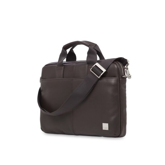 235be3810845 Knomo Luggage Men's Stanford Briefcase, Brown, One Size