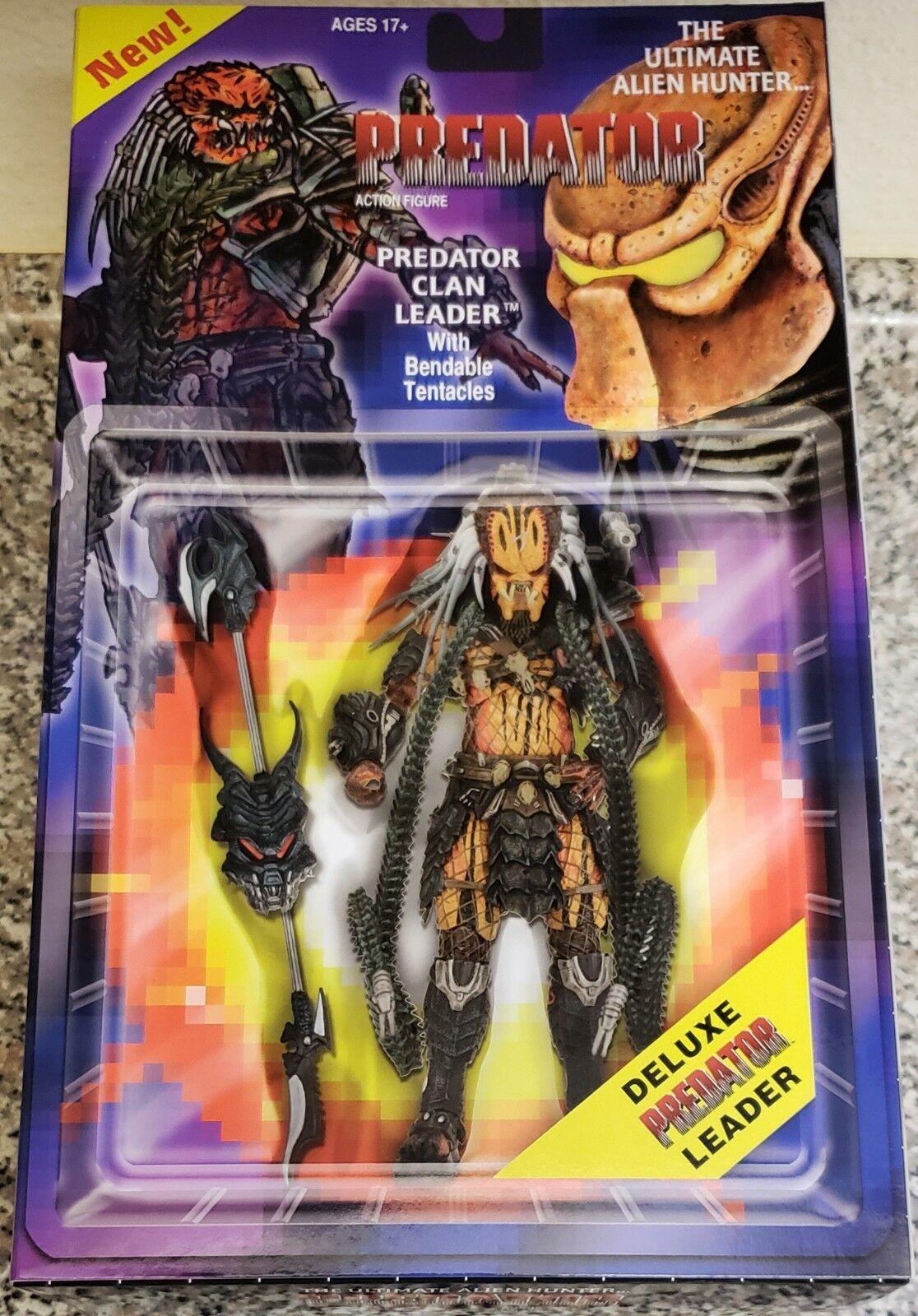 NECA Projoator clan líder, el Ultimate Alien Hunter, Deluxe Figura (Nuevo Y Raro)