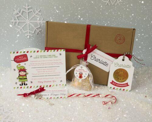ELF CHRISTMAS EVE Box-Santa Letter Magic Key /& Renne Food libre p/&p