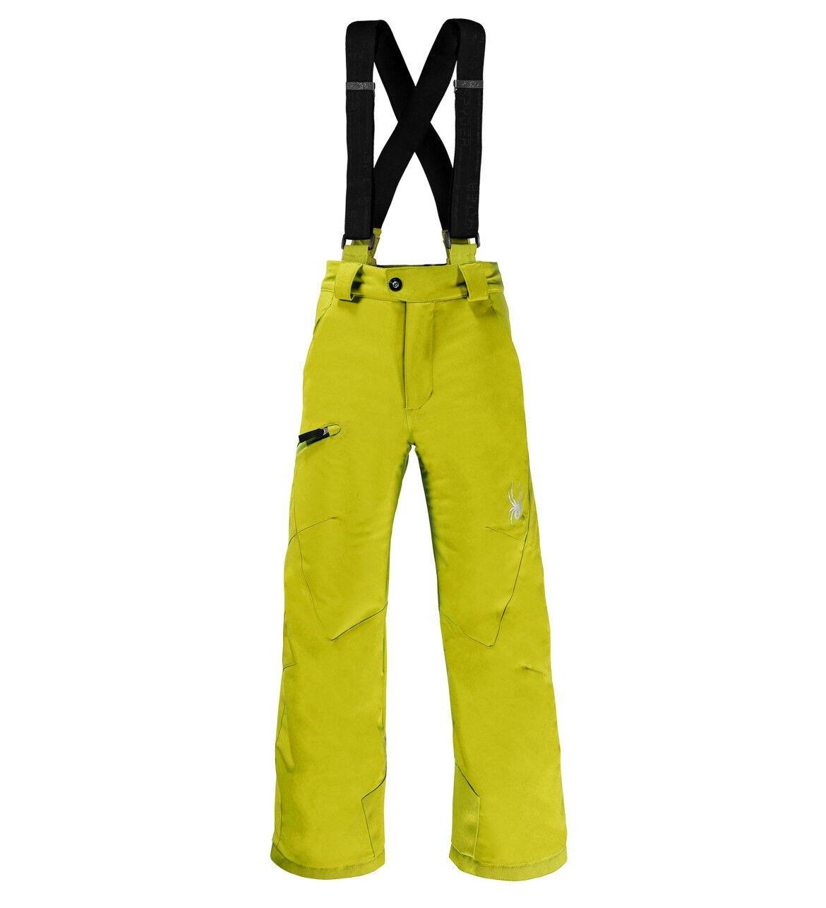 NEW Spyder Propulsion Ski Hose Insulated Waterproof Sulfur Boy's 8