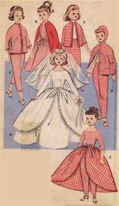 Doll Clothes Pattern 9195 Little Miss Revlon Toni Crown Princess Sally Star Jill