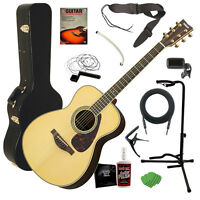 Yamaha Ls6 Are Acoustic Guitar - Natural With Case Complete Guitar Bundle