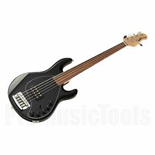 Music Man USA Stingray 5 Piezo Fretless BK - Black * NEW * unlined musicman bass