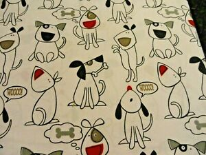 FUN White Gray and Black Whimsical DOGS 3 pc TWIN Microfiber Sheet Dogs cartoon