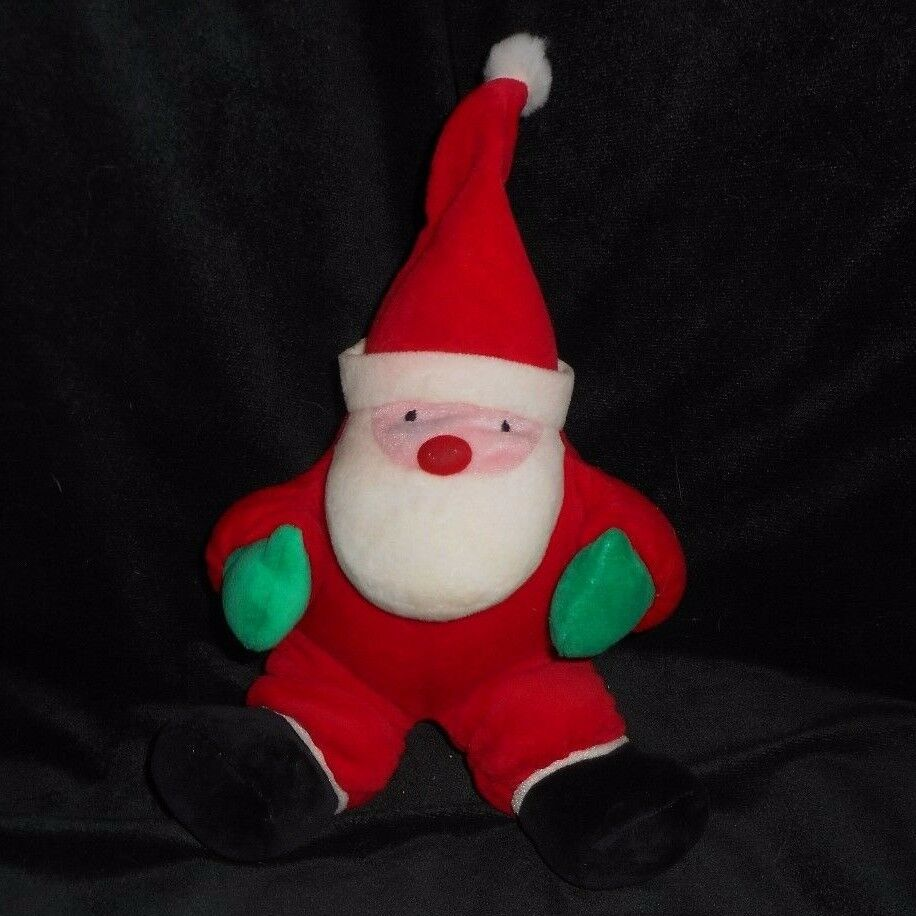 10  VINTAGE BANTAM CHRISTMAS SANTA CLAUS RATTLE STUFFED ANIMAL PLUSH TOY DOLL