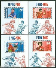 NIGER 2013  CHINESE PING PONG PLAYERS  SET OF FOUR DELUXE S/S MINT