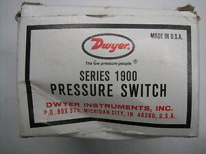 New-Dwyer-Series-1900-Pressure-Switch