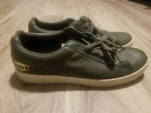 finest selection 5d260 a250d Details about Rare Puma X Undefeated Clyde Luxe LEATHER FOREST UNDFTD  352775 03 SZ 9.5 MENS