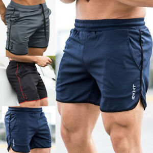 Men-039-s-GYM-Shorts-Training-Running-Sport-Casual-Jogging-Pants-Trousers-S-XL-CA-IL