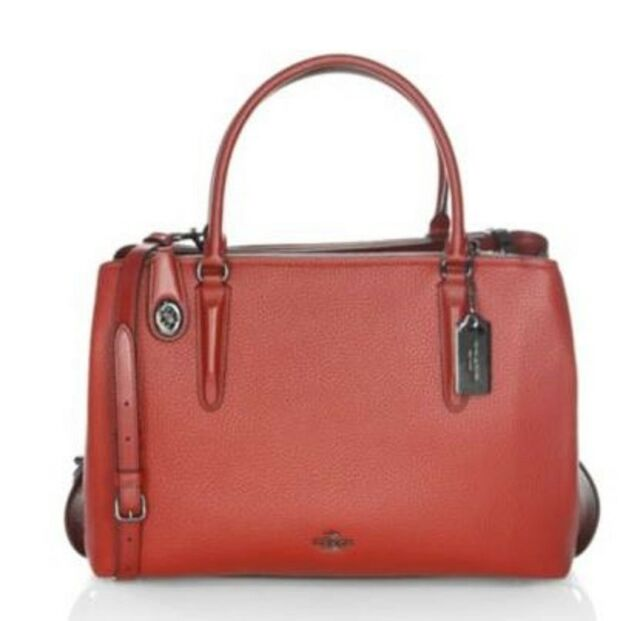Coach 57276 Pebble Leather Brooklyn Carryall 34 Shoulder Bag for ... 36f3109ef1030