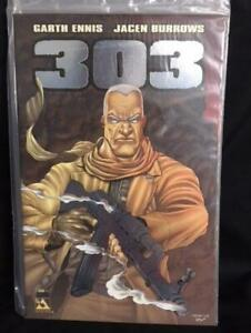 303-1-NM-Garth-Ennis-Burrows-Rifle-Avatar-2004-Platinum-Signed