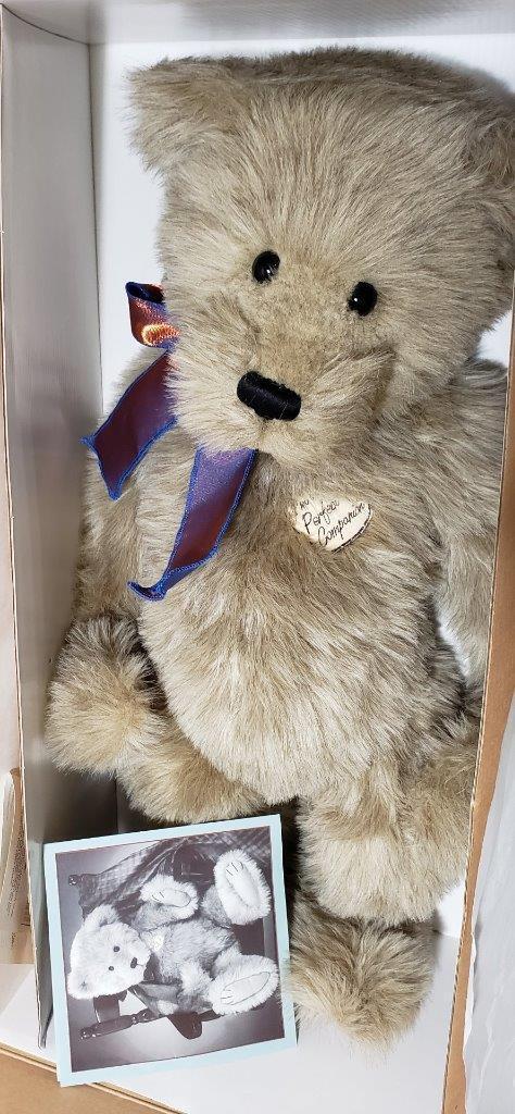 ASHTON DRAKE BARBARA FERRIER JOINTED orsoS PERFECT COMPANIONS ORIG scatola COA
