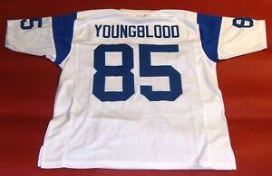 bdfde760 Details about JACK YOUNGBLOOD CUSTOM LOS ANGELES RAMS THROWBACK W JERSEY