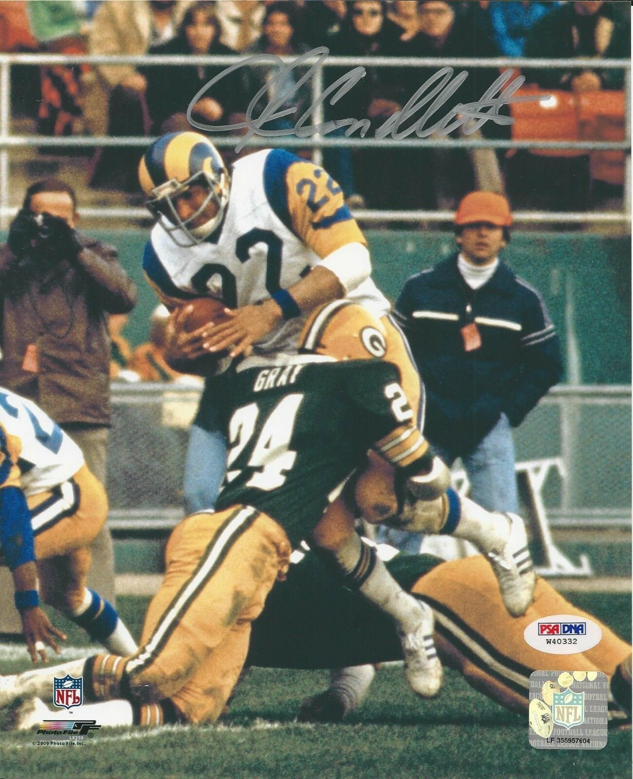 John Cappelletti Los Angeles Rams Signed 8x10 PSA/DNA # W40332