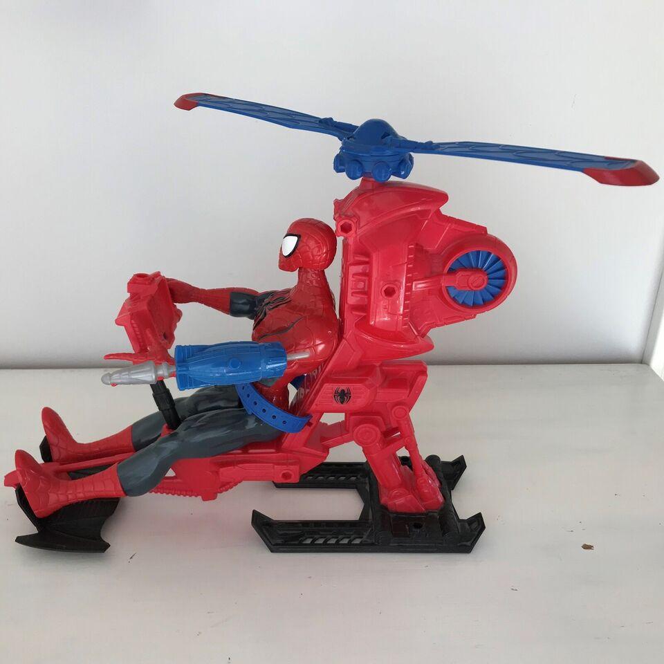 Stor spiderman + helikopter, Marvel Ultimate Spider-Man