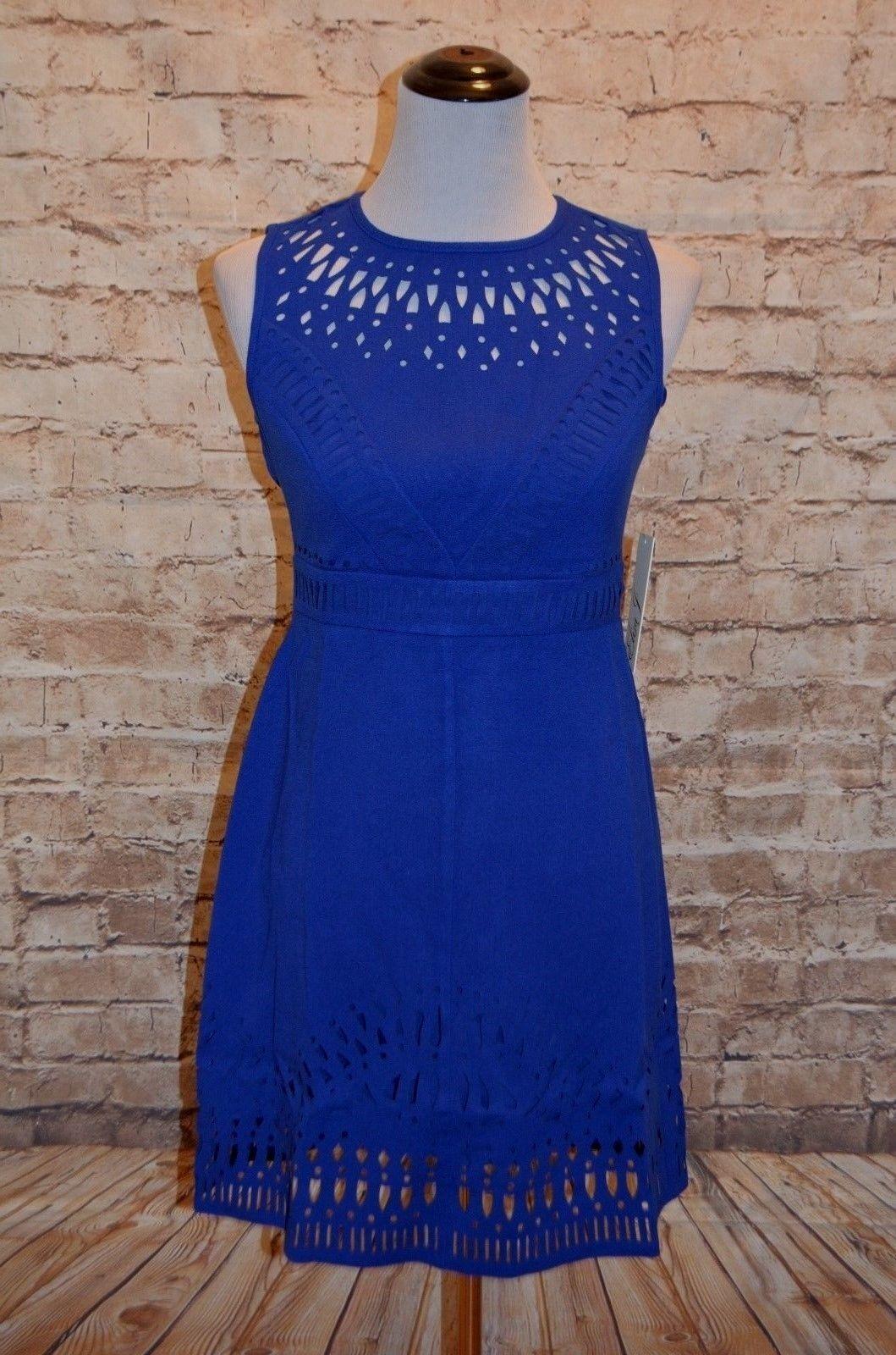 Modcloth Mingling Mood dress NWT 2 Eliza J   cutout A-line Cobalt Sapphire