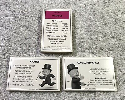 CHANCE AND COMMUNITY CHEST CARDS BRAND NEW MONOPOLY  IRISH EDITION 2017 DEED