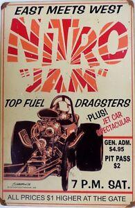 NITRO-JAM-TOP-FUEL-DRADSTERS-EAST-MEETS-WEST-Metal-tin-Sign