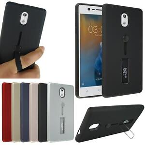 new product 6758f 985c2 Details about For Nokia 3 TA-1020 New Genuine Hard Back Shock Gel Ring  Stand Phone Case Cover