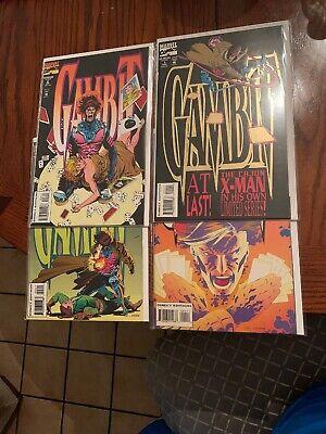 Gambit #1 2 3 4 Marvel X-men Mini Series Comic Book Set 1-4 Complete GOLD FOIL
