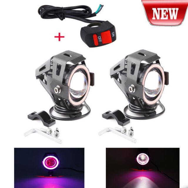 2pcs cree u7 angel devil eye light 125w motorcycle led fog spotlight