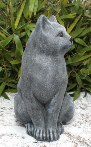 sculpture en pierre CHATS Grande gris ardoise résistant au gel