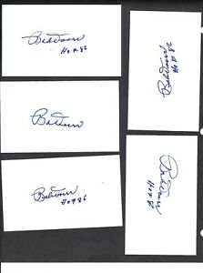 Bobby-Doerr-HOF-3-x-5-Index-Signed-Autographed-LOT-OF-5-Auto-Red-Sox-Great