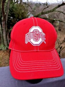 486ef27d7 Details about OHIO STATE University BUCKEYES Baseball Cap Hat Mens Womens  RED One Fit Sz S / M