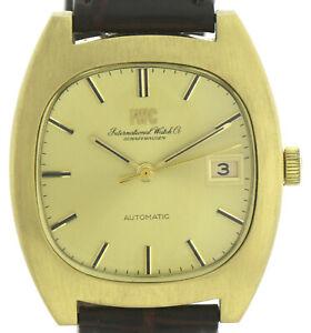 IWC-Schaffhausen-750-18k-Gold-Vintage-Automatic-Herrenuhr-Kal-8541-35mm-1970