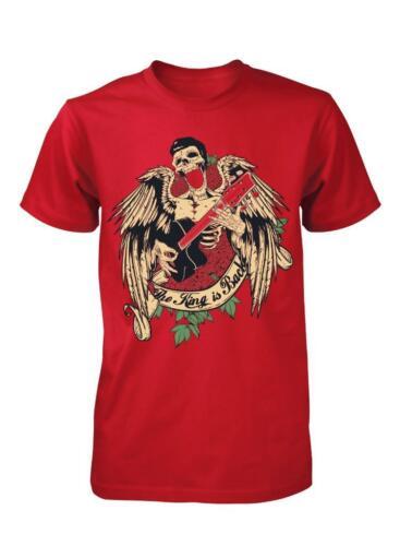 BNWT Il Re è tornato Elvis Chitarra Teschio Gioco Bambino Kids T Shirt 3-15 anni