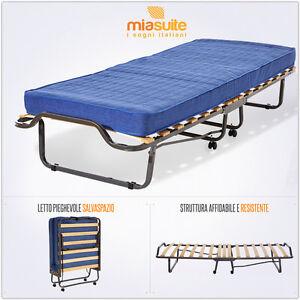 Brandina letto trasformabile pieghevole per ospiti rete e materasso ortopedici ebay - Materasso pieghevole per divano letto ...