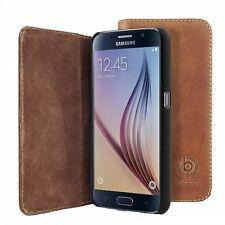 Original Bugatti Ledertasche Tasche für Samsung Galaxy S6 G920 G920F Hülle Leder