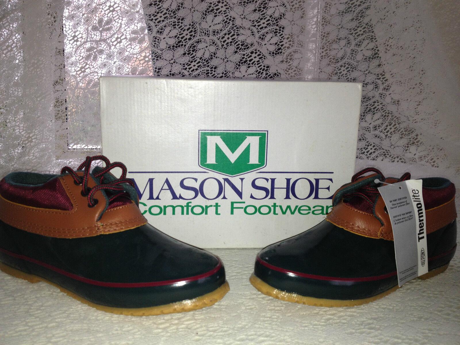 LADY'S MASON THERMOLITE GREEN NEW IN BOX ALL WEATHER SPORT RAIN Schuhe  SIZE 8 M
