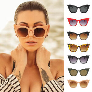 302a081bcce Image is loading Cat-Eye-Sunglasses-Womens-Retro-Oversized-Vintage-Plastic-