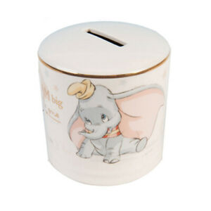 Disney-Dumbo-Money-Bank-Ceramic-Feature-Great-Dumbo-Image-Decorated-With-Gold