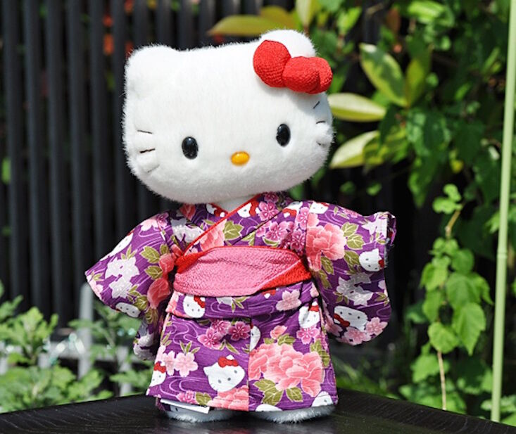 Hello  Kitty Japan Limited nuovo Plush bambola Rare Kimono Stuffed Kawaii Cute Sanrio  contatore genuino