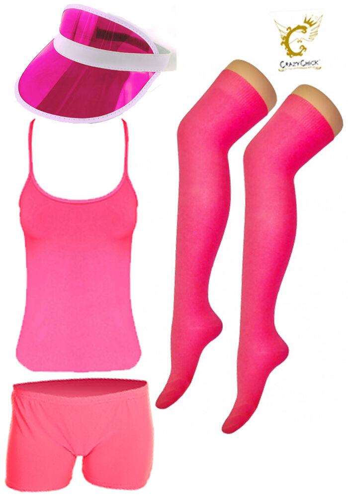 Women 1980's Race Run for Life Hen Night Fancy Dress Party Accessories