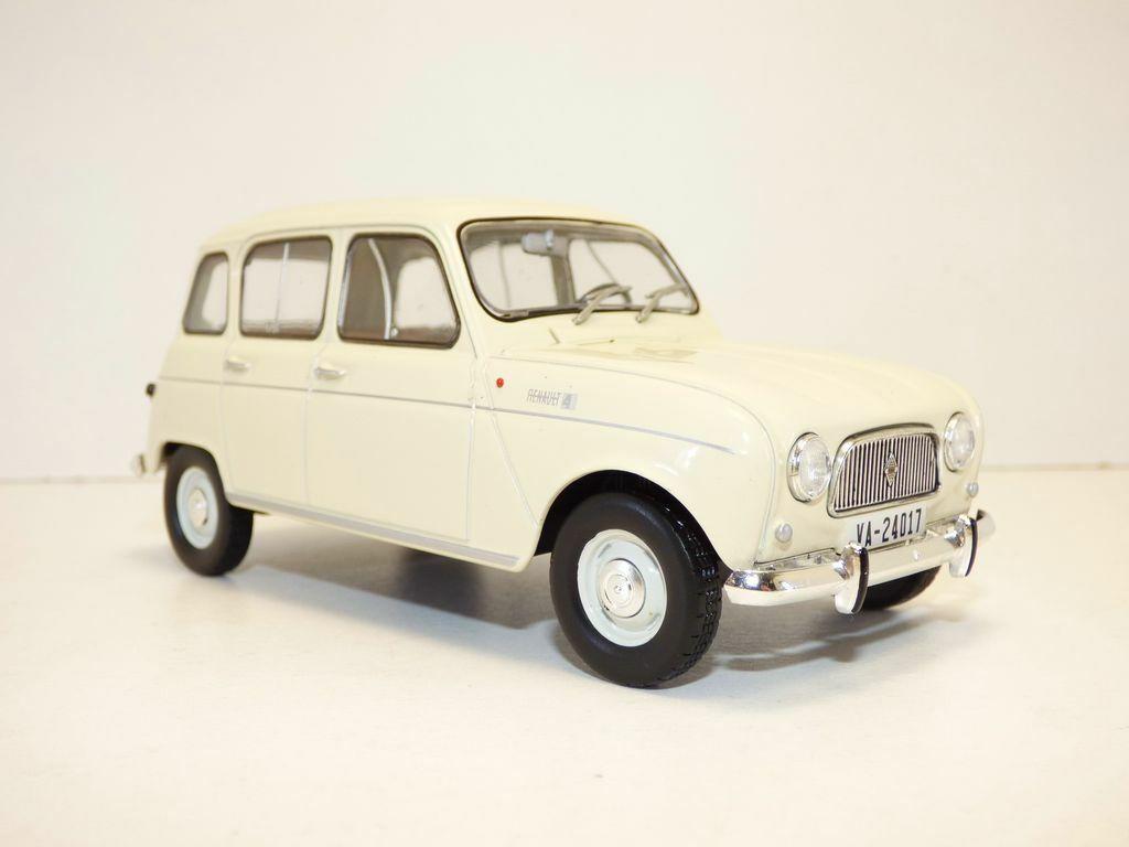 Renault 4L 1964 avec Parties Ouvrantes 1//24 Voiture Miniature R4 Model Car E004B