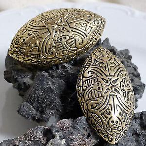 1 Stück Schildkrötfibel Bronze Ovalfibel Finnland Buckelfibel Schürzenfibel